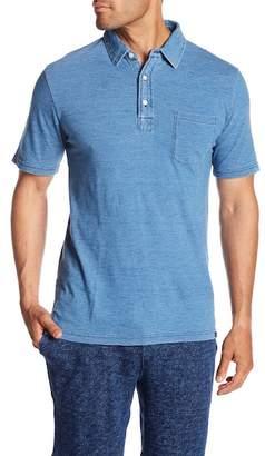 Faherty BRAND Short Sleeve Indigo Polo