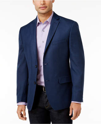 Alfani Men's Slim-Fit Soft Navy Houndstooth Jacket, Created for Macy's $250 thestylecure.com