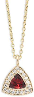 KC Designs Women's Diamond, Garnet & 14K Yellow Gold Necklace