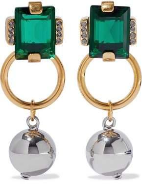 Marni Gold-Tone Crystal And Bead Earrings