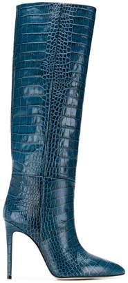 Paris Texas embossed knee length boots