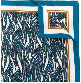 Ermenegildo Zegna feather print pocket square