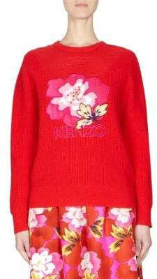 Kenzo Floral Knit Sweater
