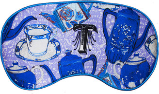 "Jessica Russell Flint ""T"" For Teatime"" Illustrated Silk Eye Mask"