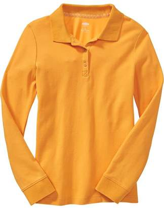 Old Navy Uniform Long-Sleeve Polo for Girls