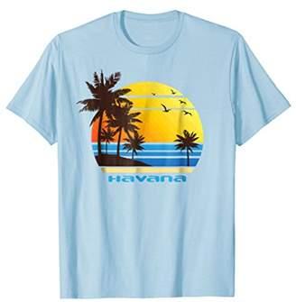 Havana Beach Surf T-Shirt Summer Sun Fun Ski Tee Shirt