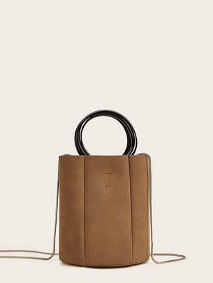 Shein Ring Handle Chain Bag With Inner Pouch