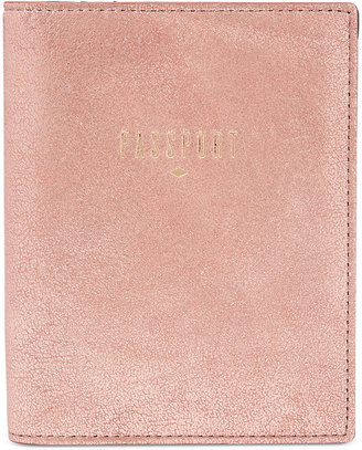 Fossil Travel RFID Leather Passport Holder $55 thestylecure.com