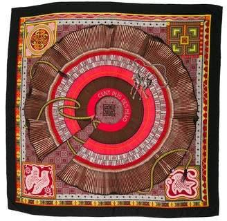 Hermes Cent Plis Des Miao Cashmere Silk Shawl