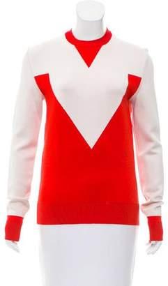 Celine Intarsia Crew Neck Sweater