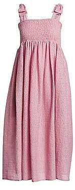 Marysia Swim Women's Sicily Smocked Linen Midi Dress