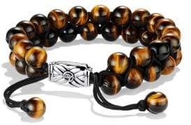 David Yurman Spiritual Beads Two-Row Tiger's Eye Bracelet