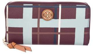 Tory Burch Coated Canvas Zip-Around Wallet