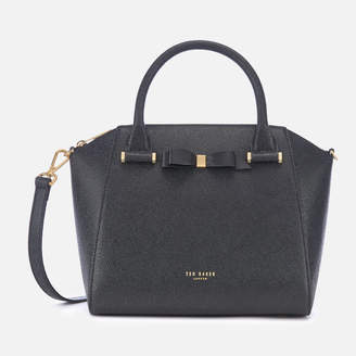 Ted Baker Women's Janne Bow Detail Zip Tote Bag - Black