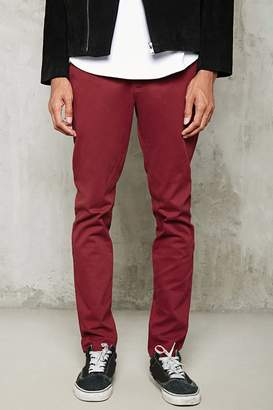 Forever 21 Belted Slim-Fit Pants