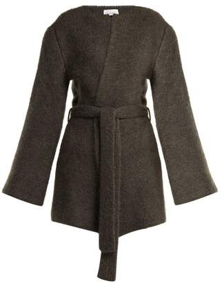 Raey Belted Mohair Blend Cardigan - Womens - Charcoal