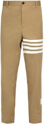 Thom Browne Mid Rise Cotton Chino Trousers - Mens - Camel
