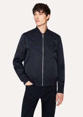 Paul Smith Men's Navy Cotton-Blend Wadded Bomber Jacket