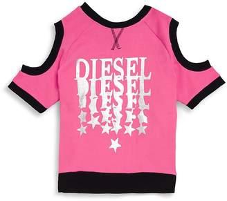 Diesel Girl's Cold Shoulder Sweatshirt