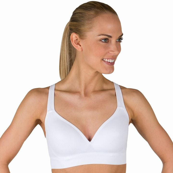 Jockey Sport Bra: Seamless Molded Medium-Impact Sports Bra 8126