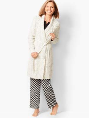 Talbots Donegal Cable Robe