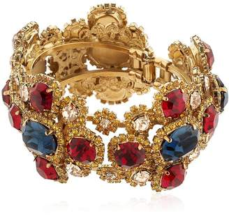 Antique Finish Jeweled Bracelet