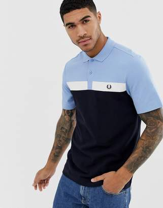 Fred Perry panel polo in navy