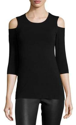 Bailey 44 Deneuve Cold-Shoulder Top, Black