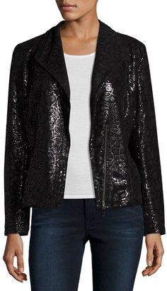 Grayse Embellished Leather Moto Jacket, Black $899 thestylecure.com