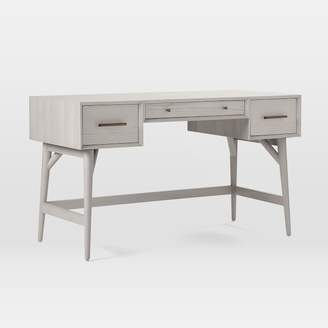 west elm Mid-Century Desk - Pebble