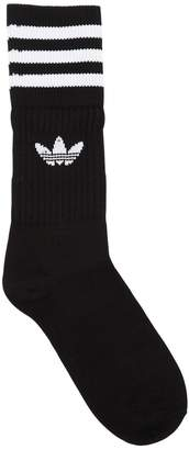 adidas 3 Pairs Of Striped Crew Socks