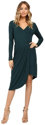 Christin Michaels Ailie Long Sleeve Crossed Dress $69 thestylecure.com