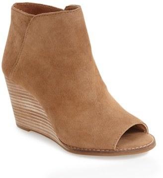 Women's Lucky Brand 'Jezzah' Open Toe Bootie $128.95 thestylecure.com