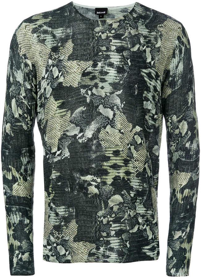 snakeskin pattern jumper