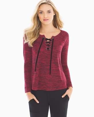 Melange Lace Up Sweatshirt