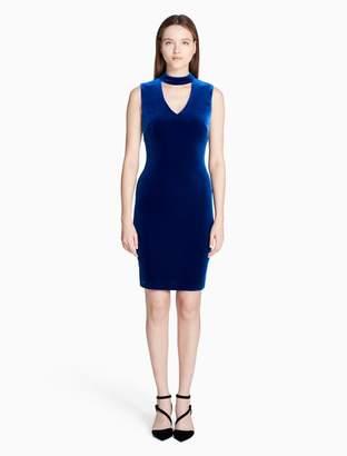 Calvin Klein velvet cut-out sheath dress