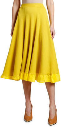 Stella McCartney Chiffon-Trim Skirt
