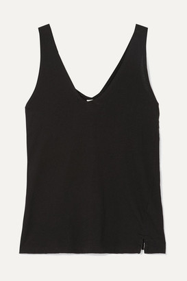 Bassike Net Sustain Organic Cotton-jersey Tank - Black