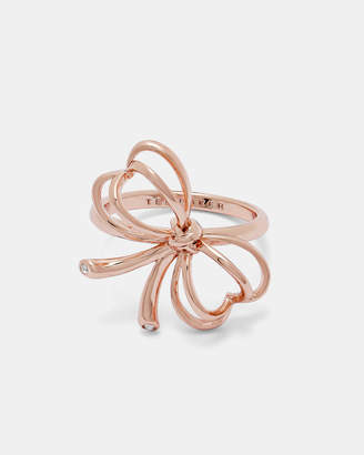 Ted Baker LAELL Small heart bow ring