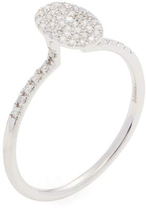 Meira T Women's 14K White Gold & 0.21 Total Ct. Pave Diamond Ring