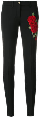 Philipp Plein rose embellished skinny trousers