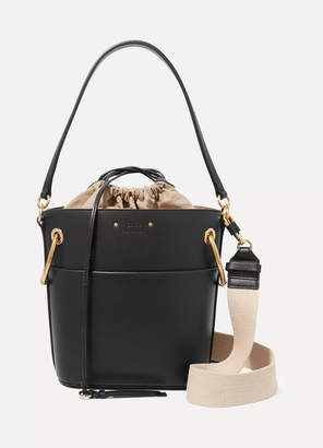 Chloé Roy Small Leather Bucket Bag - Black