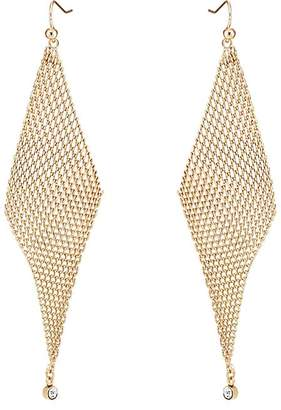 Jules Smith Designs WOMEN'S CRYSTAL-EMBELLISHED MESH WAVE EARRINGS
