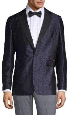 Soho-Fit Silk Wool Evening Jacket
