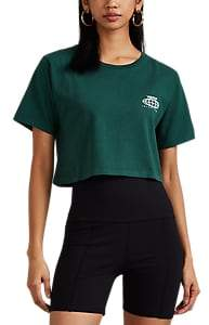 Visitor On Earth Women's Logo Cotton Crop T-Shirt - Green