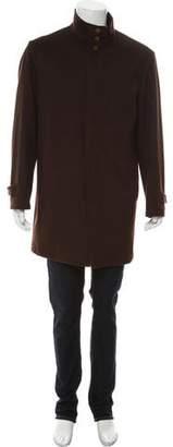 Peter Millar Wool Doeskin Overcoat