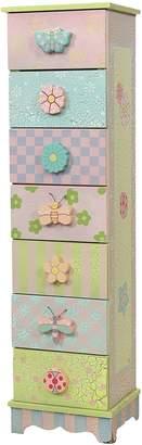Fantasy Fields By Teamson Fantasy Fields by Teamson Crackled Rose 7 Drawer Cabinet