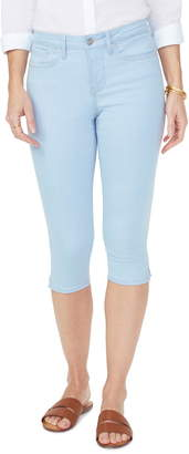 NYDJ Embroidered Side Seam Capri Skinny Jeans