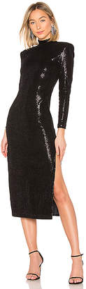Smythe Knit Sequin Side Slit Dress