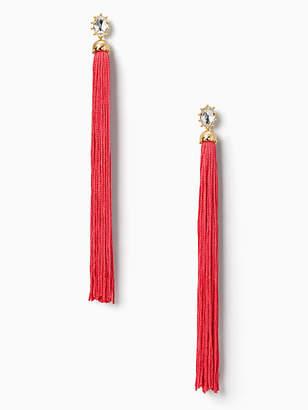 Kate Spade Flying colors tassel statement earrings